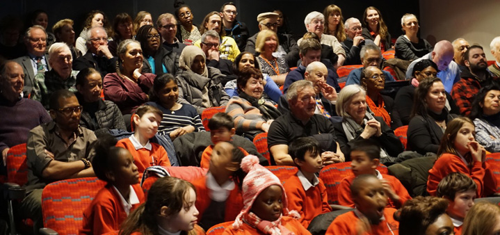 Audience at the London Transport Museum